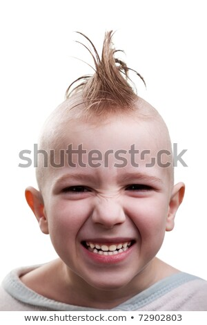 Punk hair child grin Stock photo © ia_64