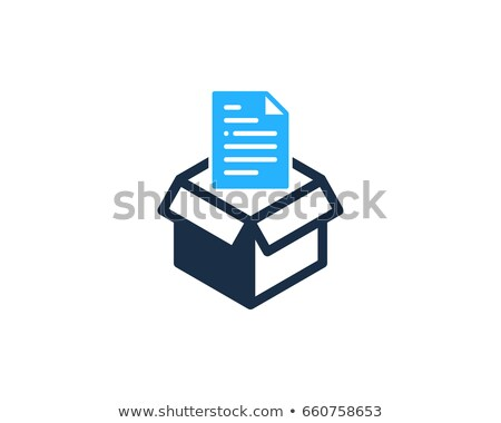 Archive Logo Design with Cube stock photo © sdCrea