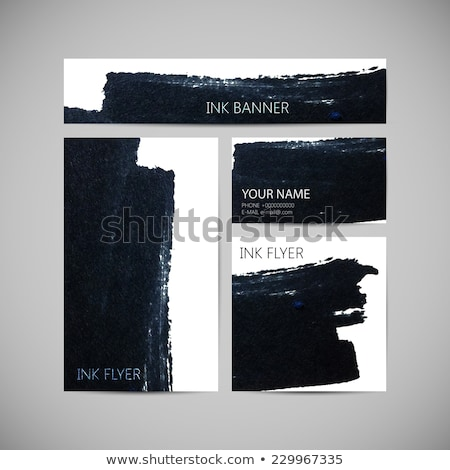 abstract ink style business stationery vector design Stock photo © SArts