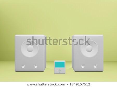 Hangfalak mini szett stilizált modern különböző Stock fotó © tracer