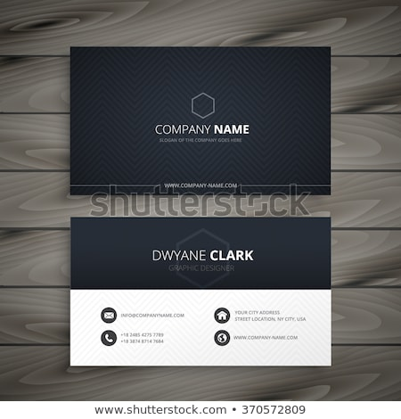 abstract dark business card template for brand identity Stock photo © SArts