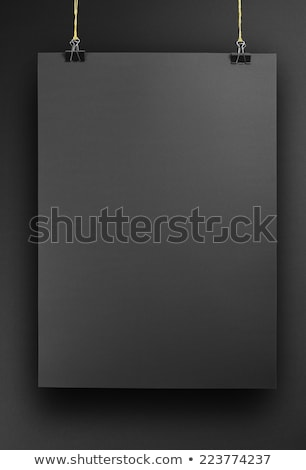 preto · cartaz · realista · modelo · sombra - foto stock © molaruso