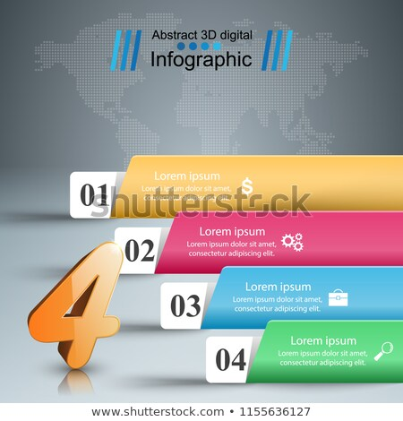 Daire ok stil dört adımlar infographics Stok fotoğraf © SArts
