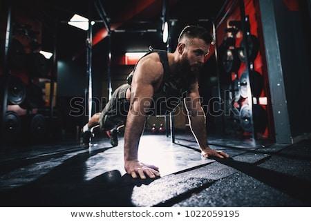 military man exercise Stock photo © grafvision