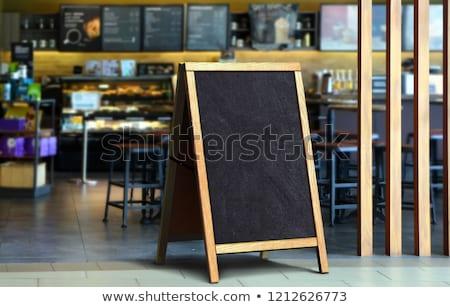 üres étterem menü utca fekete tábla Stock fotó © stevanovicigor