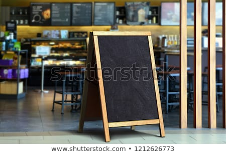 Boş restoran menü sokak siyah kara tahta Stok fotoğraf © stevanovicigor