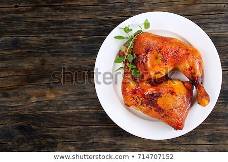 Pörkölt tyúk combok vágódeszka hús Stock fotó © Digifoodstock