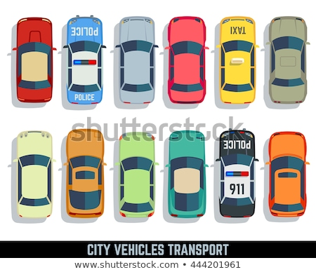 Taxi Car Top View Flat Style Vector Icon Stock photo © robuart
