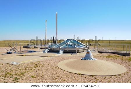 míssil · subterrâneo · concreto · abertura · para · cima · pronto - foto stock © albund