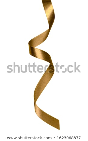 Stock photo: Shiny satin ribbon on white background