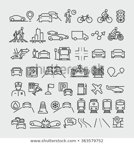 Stock photo: Navigation, direction, maps, traffic icons set