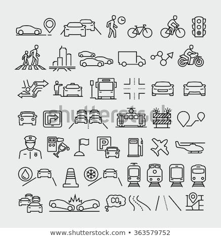 Stock photo: Navigation, direction, maps, traffic icons set