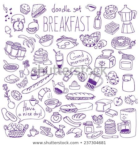 Континентальный завтрак здорового различный продовольствие свежие Сток-фото © dariazu