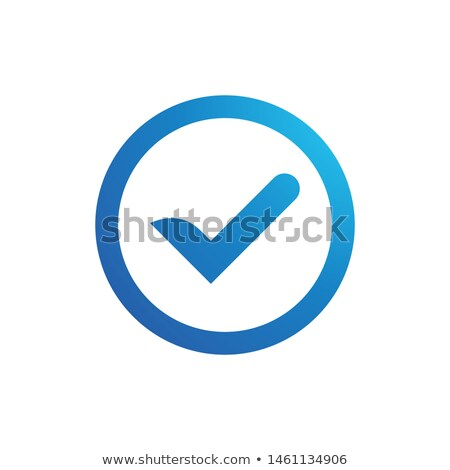 Boxed Blue Tick Stock photo © tang90246