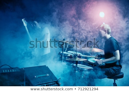 erkek · davulcu · gece · kulübü · müzik · mikrofon - stok fotoğraf © wavebreak_media