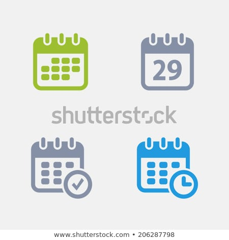 Calendars - Granite Icons Stock photo © micromaniac