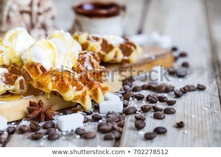 Sorvete mel caseiro Bélgica café velho Foto stock © Karaidel
