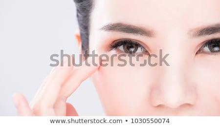 Woman eyes thinking Stock photo © Kurhan