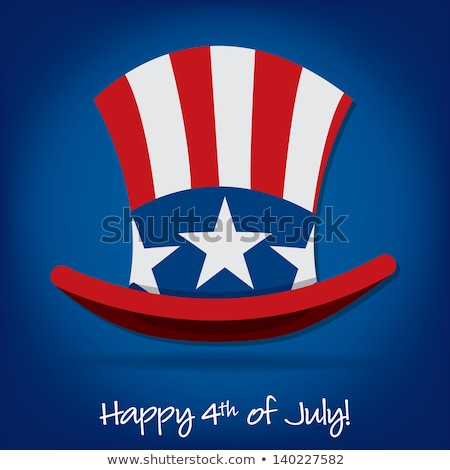 Uncle sam hat symbol of Presidents day stock photo © orensila