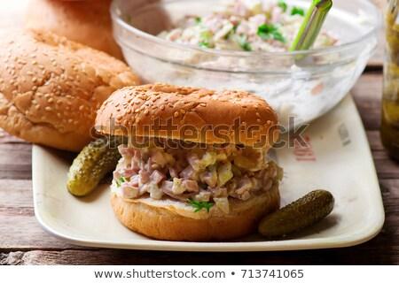 Southern Ham Salad Style Rustic Сток-фото © zoryanchik