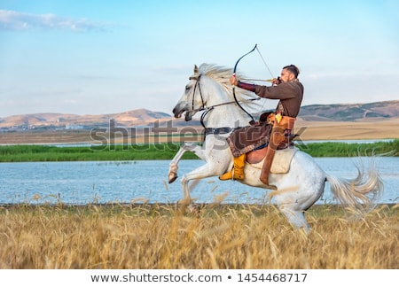 Warrior archer on horseback. Stock photo © gintaras