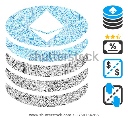 Ethereum Coin Stack Flat Icon Stock photo © ahasoft