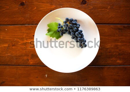 grapes on white table; seasoning vineyard background Stock photo © Konstanttin