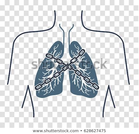 ícone asma preto paciente linear estilo Foto stock © Olena