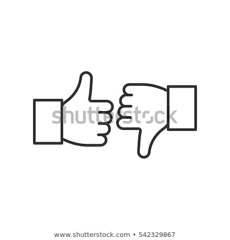 thumb up in a linear style stock photo © olena