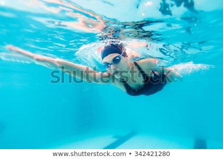 Encajar mujer natación agua piscina cuerpo Foto stock © wavebreak_media