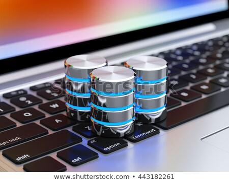 groot · gegevens · tekst · notebook · koffiemok · staafdiagram - stockfoto © tashatuvango