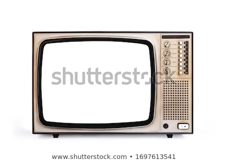 Retro televisione illustrazione 3d nero cartoon 3D Foto d'archivio © lenm