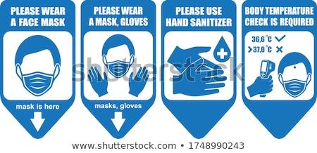 стороны синий перчатка контейнера медицинской Сток-фото © Hofmeester