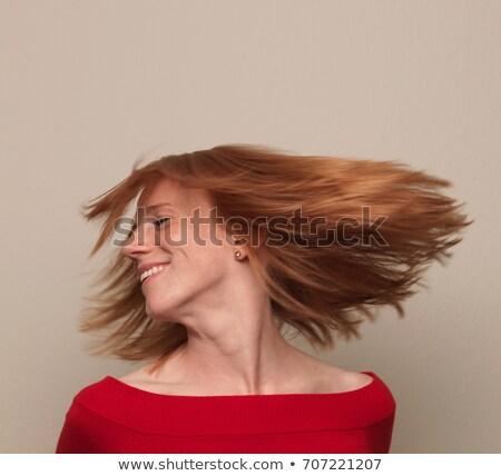 Mulher cabeça em torno de cabelo voador Foto stock © IS2