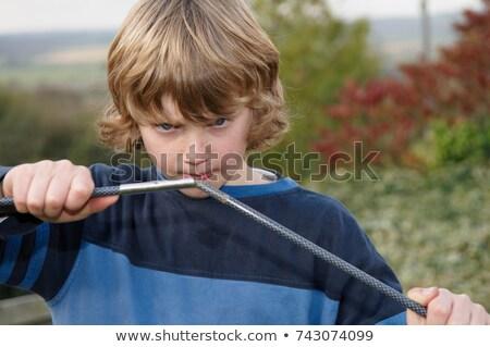 Fiú sátor gyermek jókedv szín fiatal Stock fotó © IS2