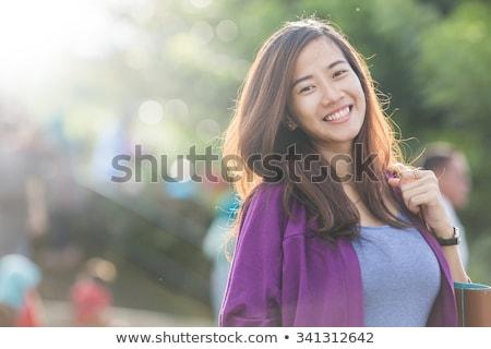 幸せ アジア 女性 夏 肖像 魅力的な ストックフォト © artfotodima