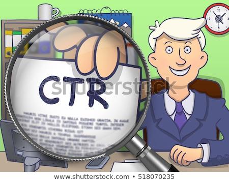 Płatność obiektyw gryzmolić człowiek biznesu garnitur patrząc Zdjęcia stock © tashatuvango