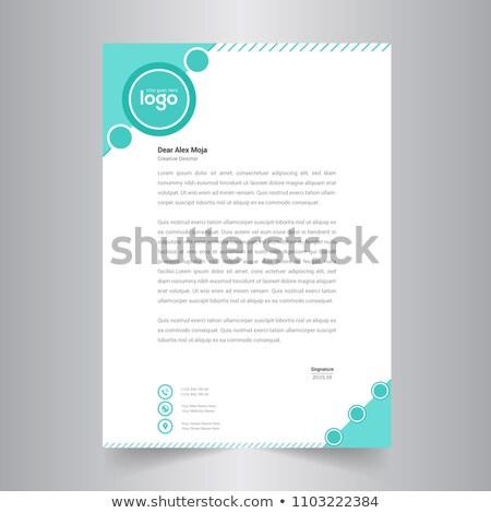 単純な 矢印 レターヘッド テンプレート デザイン 印刷 ストックフォト © SArts