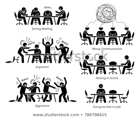 Stick figure in the fight in the office Stock photo © Ustofre9