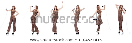 woman singer with microphone stock photo © keeweeboy