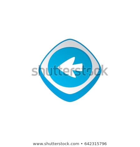 arrow cursor glossy color app icon button game asset theme vector Stock photo © vector1st
