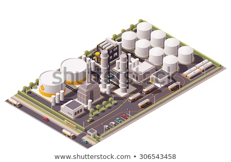 químico · planta · isométrica · 3D · elemento · pesado - foto stock © studioworkstock