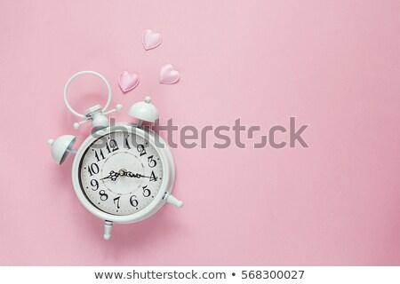 San valentino clock illustrazione abstract cuore design Foto d'archivio © get4net