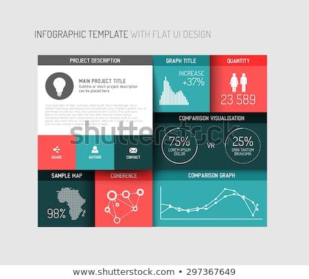 Vektor minimalista sötét infografika sablon jelentés Stock fotó © orson