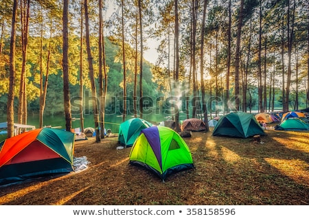 Group outside tent Stock photo © IS2