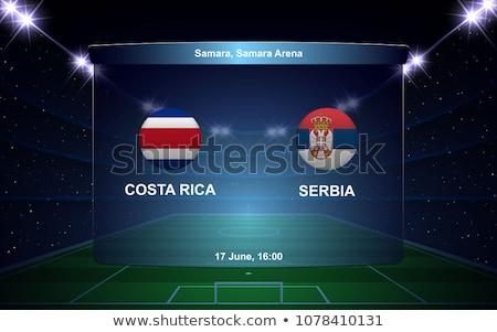 Fútbol partido Costa Rica vs Serbia fútbol Foto stock © Zerbor