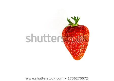A Organic Strawberry on Green Background  Stock photo © bluering