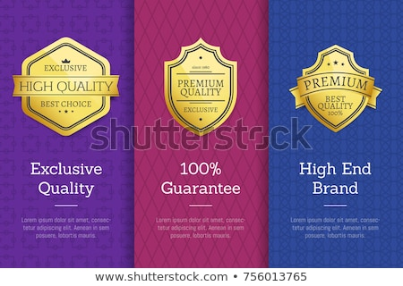 Check Quality Premium Brand Golden Award Posters Stock photo © robuart