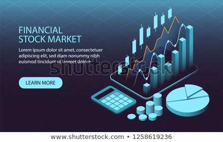 business · trends · gegevens · computer · geld - stockfoto © genestro