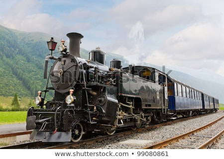 Vintage chimney of steam locomotive with smoke Stock photo © hamik